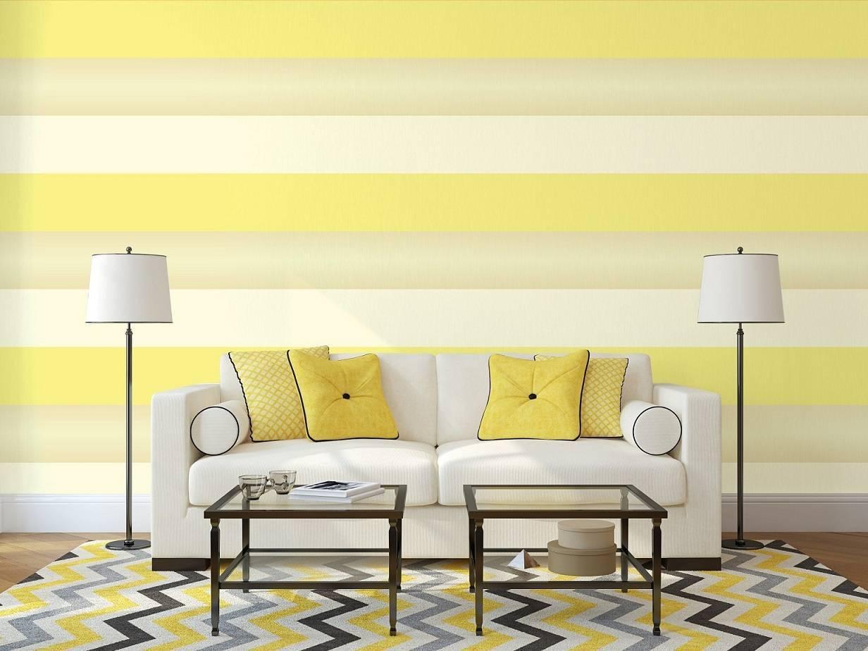 Papel de Parede Listrado Amarelo | Adesivo Vinilico imagem 2
