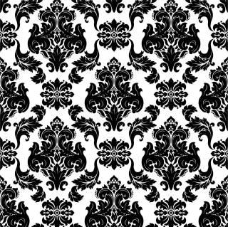Papel de Parede Arabesco Preto e Branco | Adesivo Vinilico