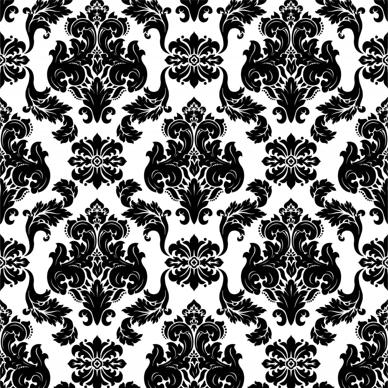 Papel de Parede Arabesco Preto e Branco | Adesivo Vinilico imagem 1