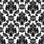 imagem do Papel de Parede Arabesco Preto e Branco | Adesivo Vinilico