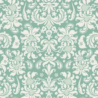 Papel de Parede Verde e Branco | Adesivo Vinilico
