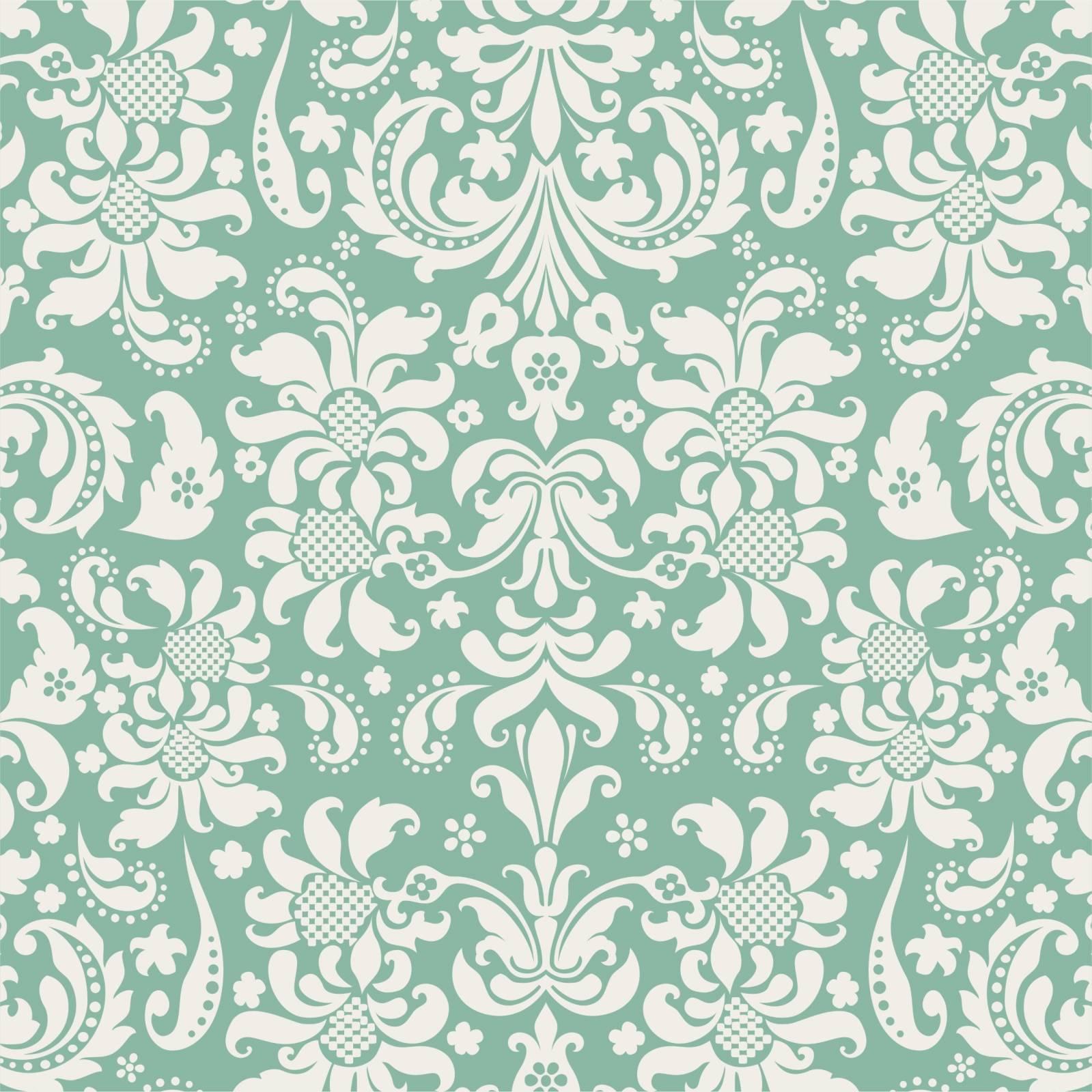Papel de Parede Adesivo Verde e Branco/Rolo