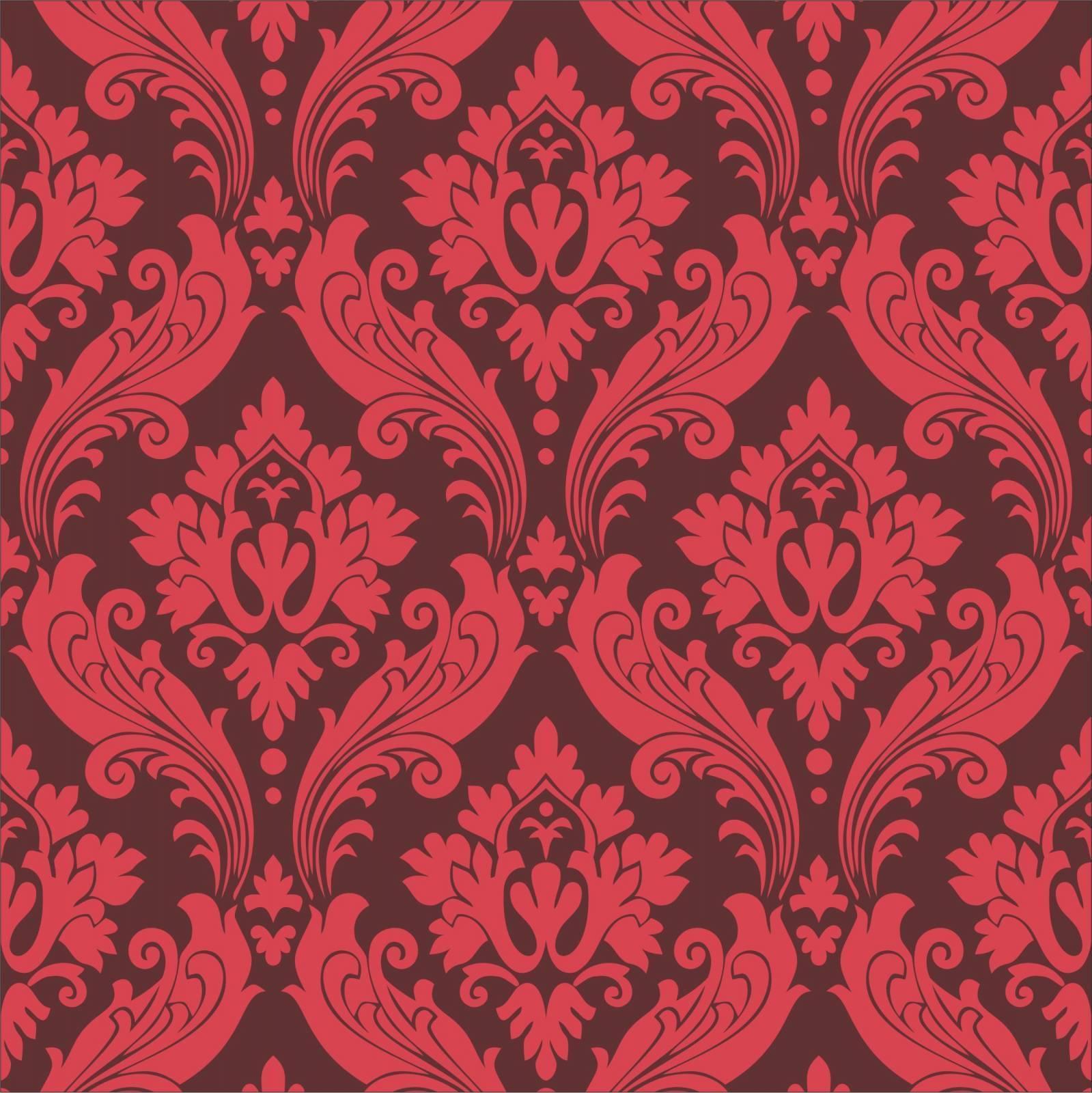 Papel de Parede Arabesco Vermelho | Rolo Adesivo imagem 2