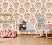 imagem do Papel de Parede Rosa Flor| Rolo Adesivo