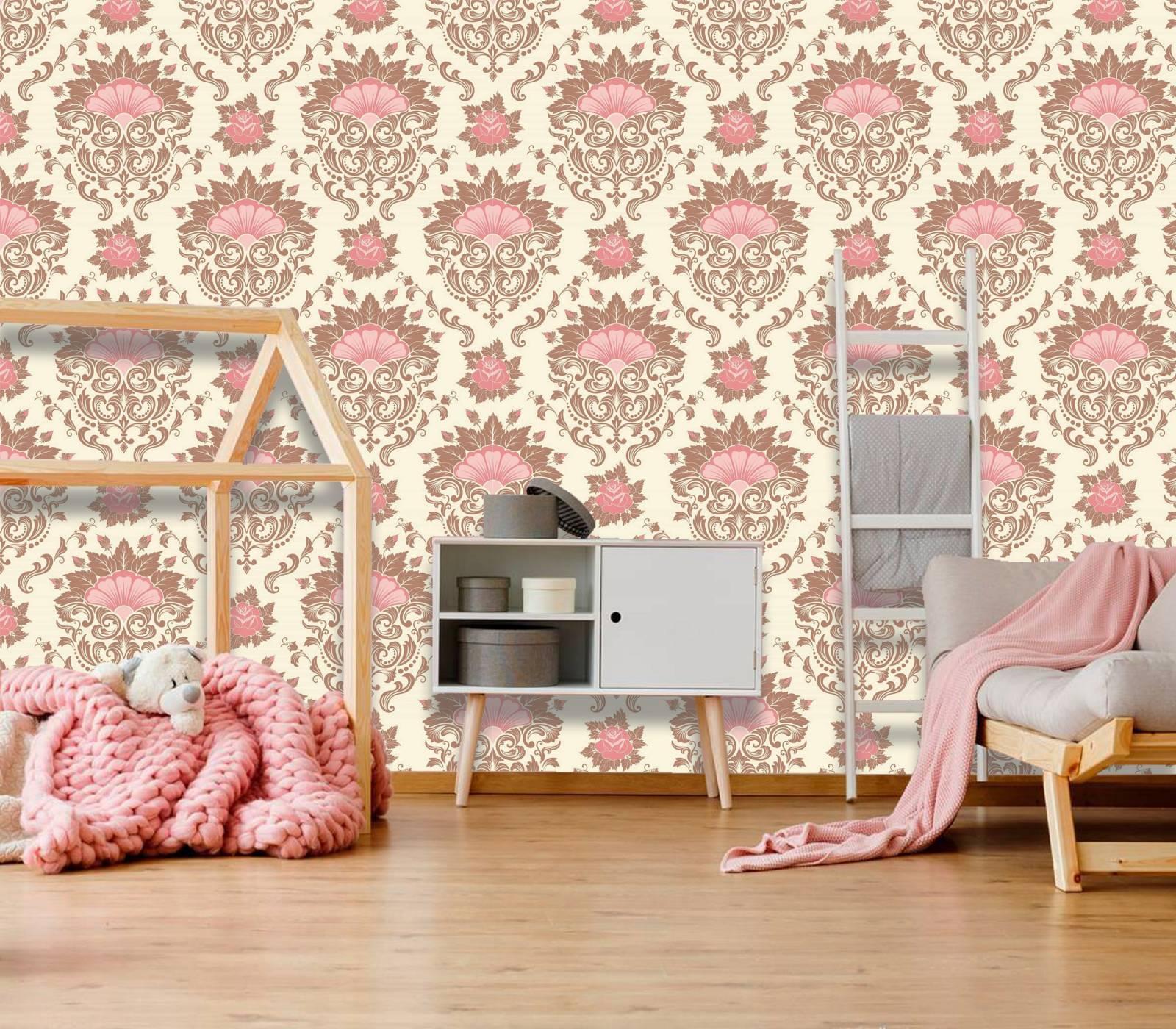 Papel de Parede Rosa Flor| Rolo Adesivo imagem 1