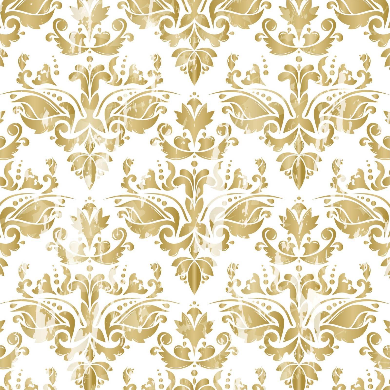 Papel de parede adesivo arabesco dourado e branco redecorei for Papel de pared dorado