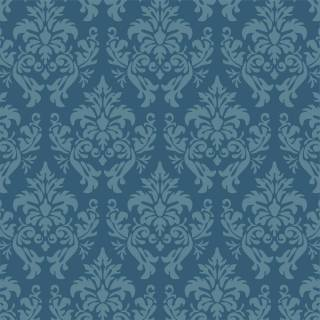 Papel de Parede Arabesco Azul | Rolo Adesivo