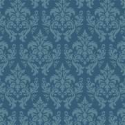 imagem do Papel de Parede Arabesco Azul | Rolo Adesivo