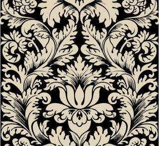Papel de Parede Adesivo Arabesco Preto e Branco | Redecorei