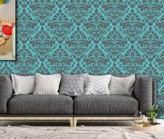 Papel de Parede Azul Tiffany | Rolo Adesivo