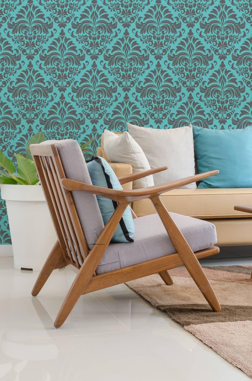 Papel de Parede Azul Tiffany | Rolo Adesivo imagem 2