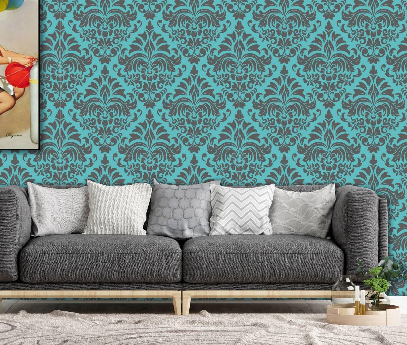 Papel de Parede Azul Tiffany | Rolo Adesivo imagem 1