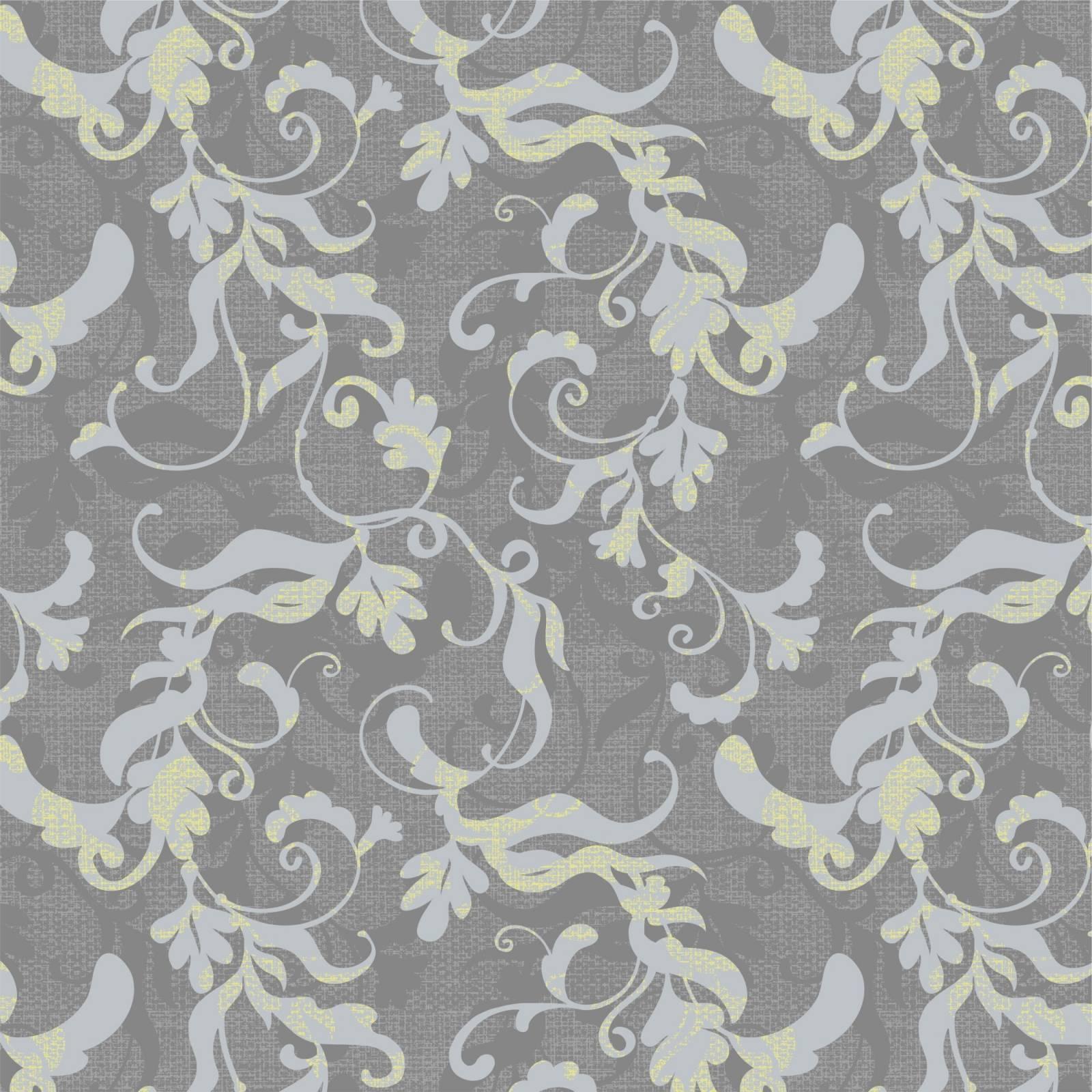 Papel de Parede Floral Cinza | Adesivo Vinílico imagem 1