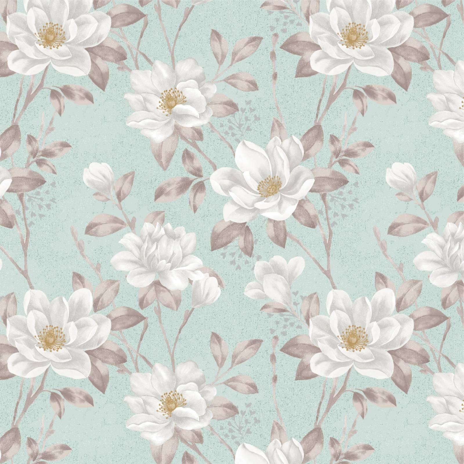 Papel de Parede Floral Flores Brancas | Adesivo Vinilico imagem 1