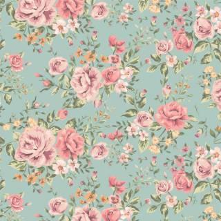 Papel de Parede Floral Rosas do Campo | Adesivo Vinílico