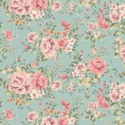 imagem do Papel de Parede Floral Rosas do Campo | Adesivo Vinílico