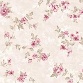 Papel de Parede Floral Rose | Adesivo Vinílico