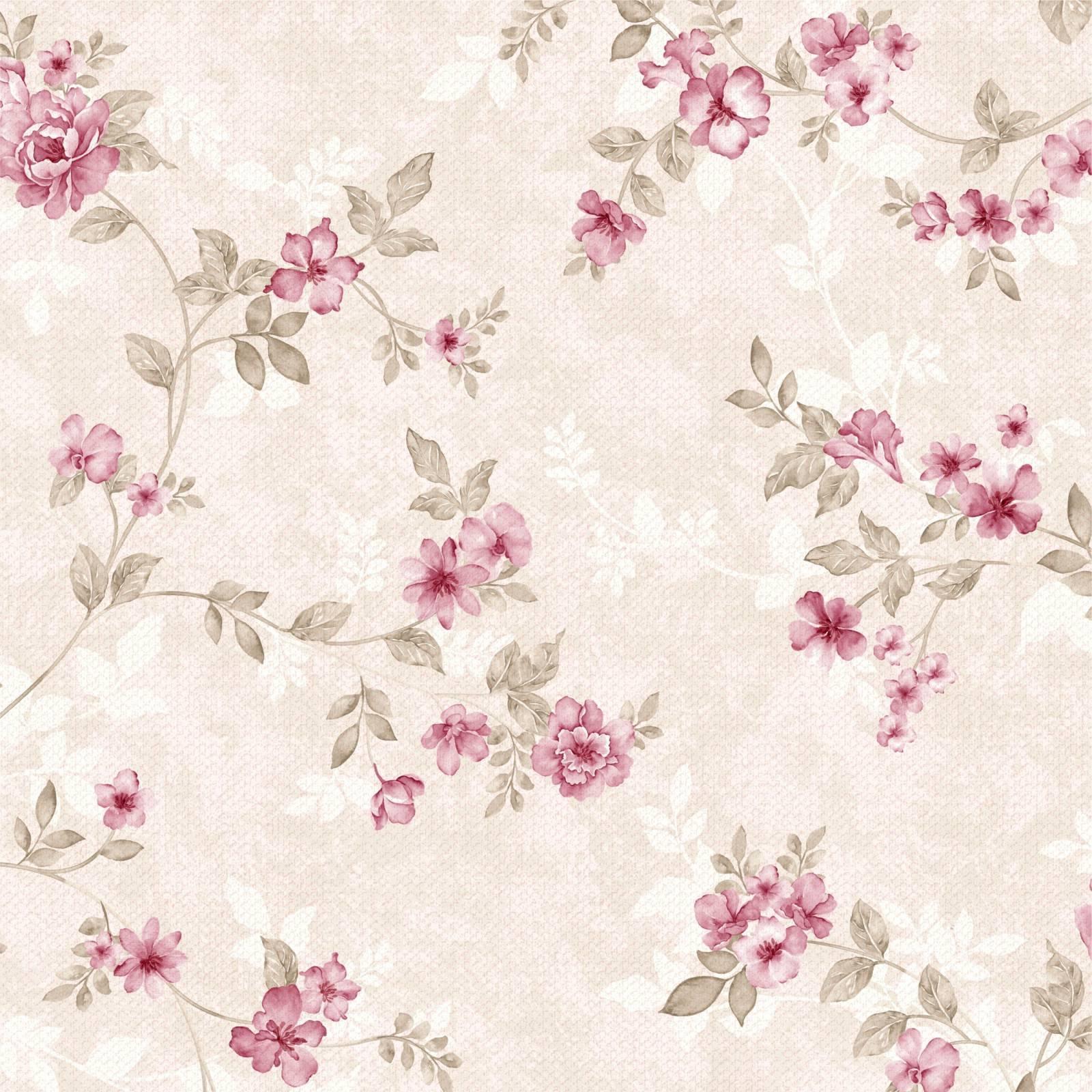Papel de Parede Floral Rose | Adesivo Vinílico imagem 1