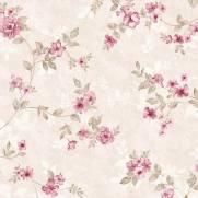 imagem do Papel de Parede Floral Rose   Adesivo Vinílico