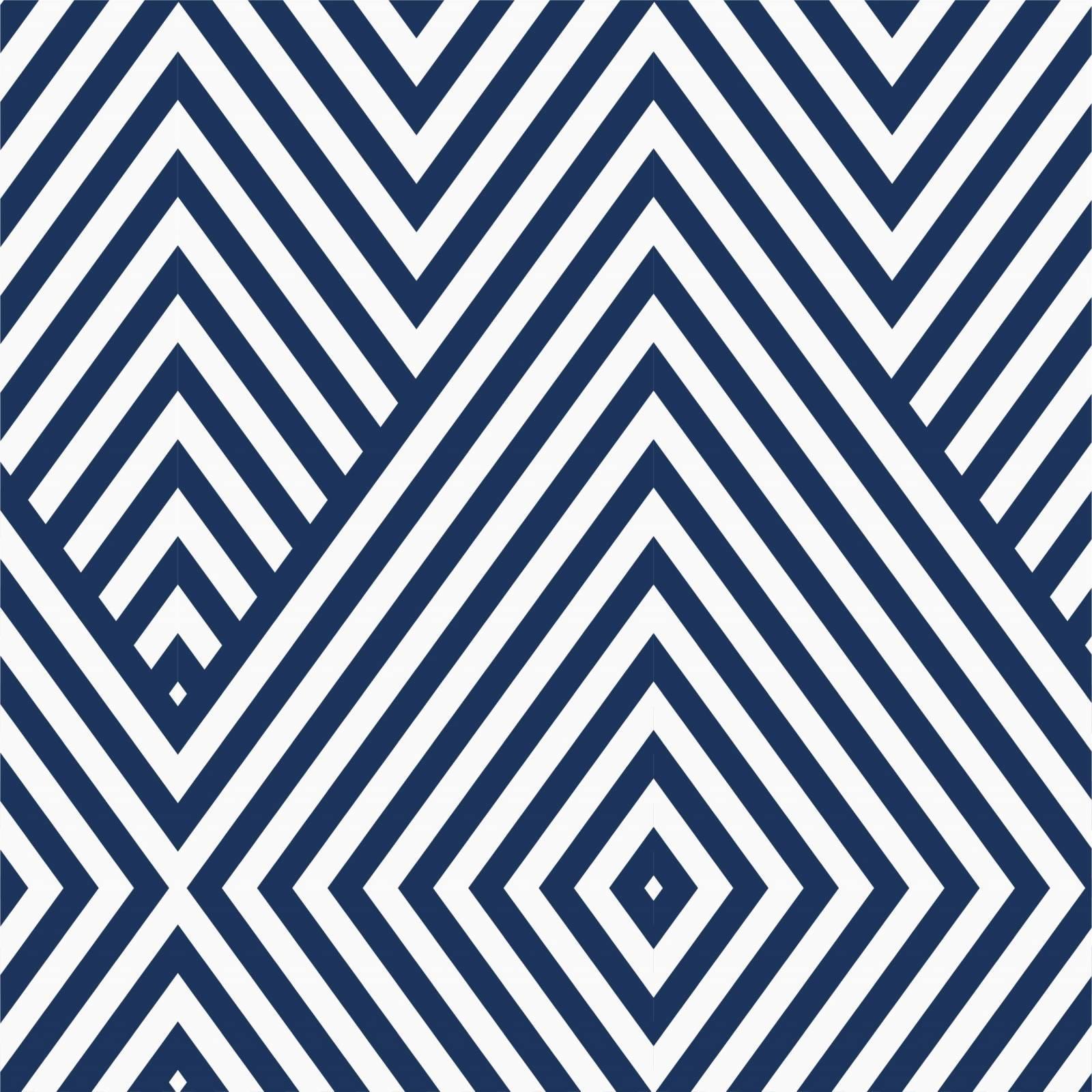 Papel de Parede Adesivo Geometrico Azul e Branco /Rolo - Redecorei