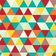 imagem do Papel de Parede Adesivo Geometrico Mosaico Colorido/Rolo