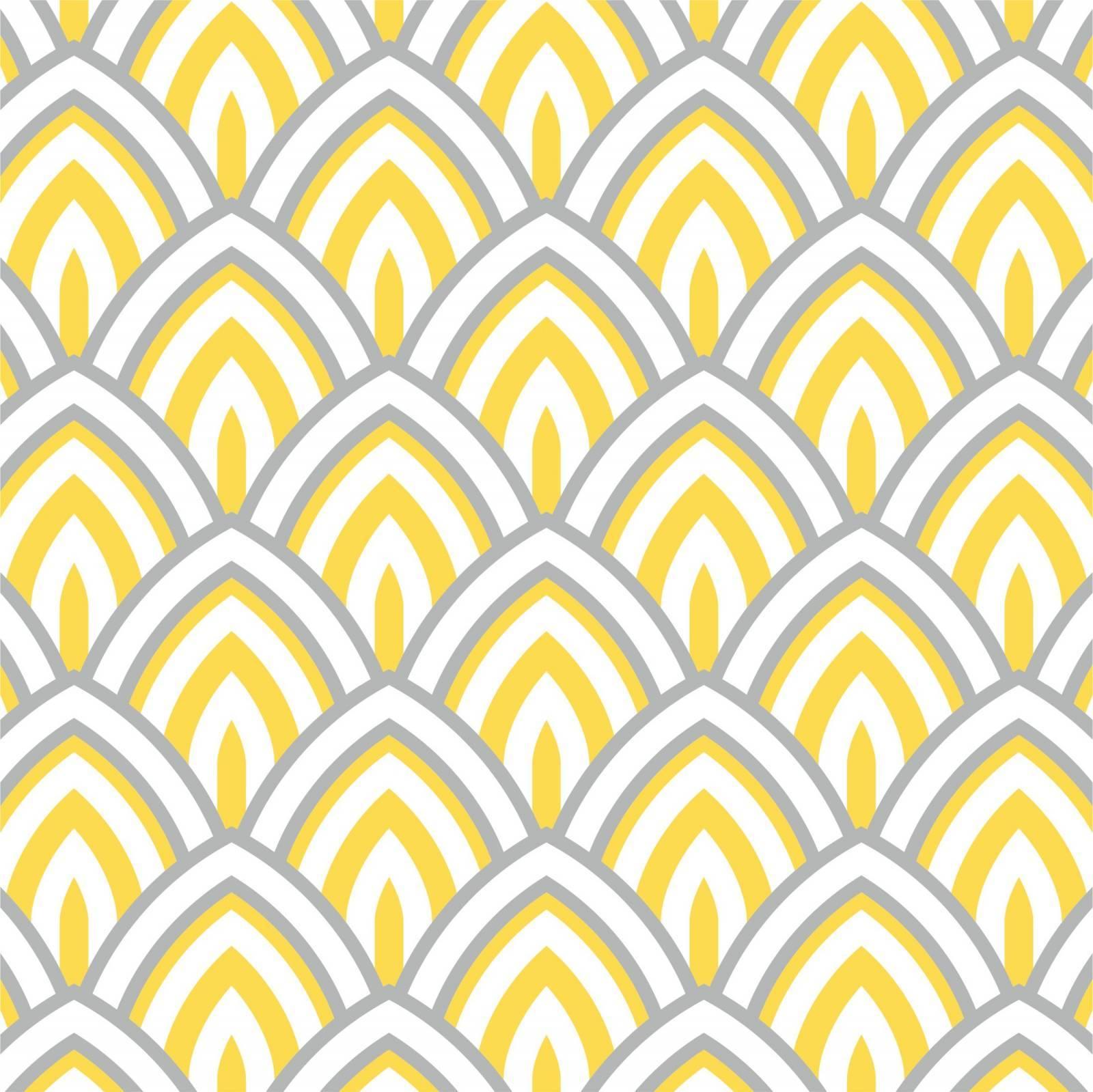 Papel de Parede Geométrico Amarelo  imagem 1