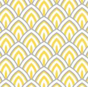 imagem do Papel de Parede Geométrico Amarelo