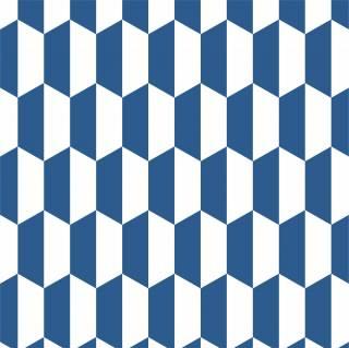 Papel de Parede Azul e Branco | Adesivo Vinilico