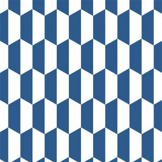 Papel de Parede Adesivo Geometrico Azul 3 /Rolo | Redecorei