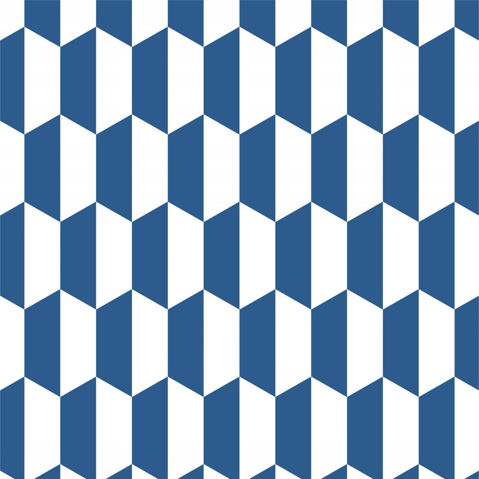 Papel de Parede Adesivo Geometrico Azul 3 /Rolo