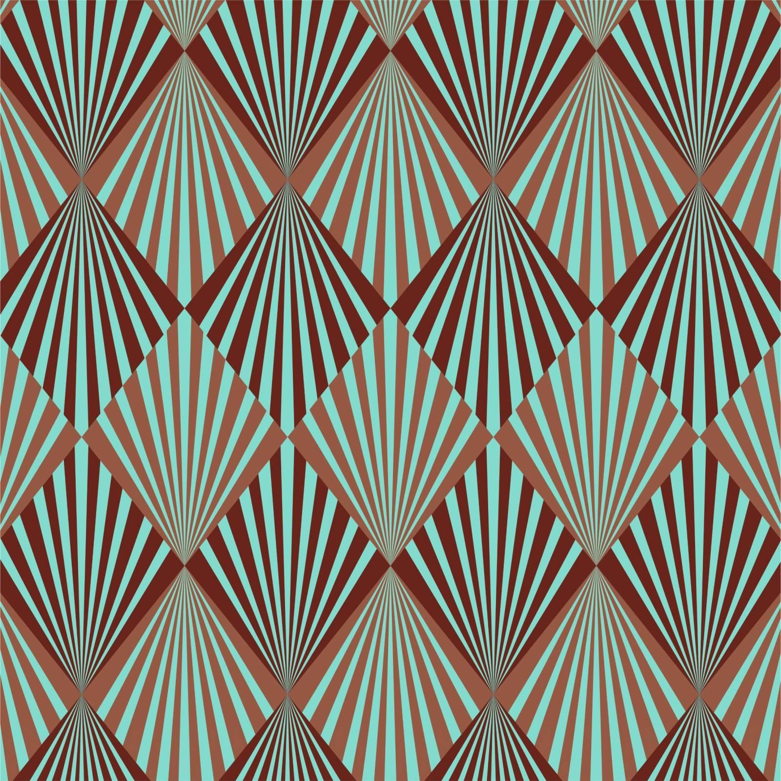 Papel de Parede Adesivo Geometrico Retro /Rolo  imagem 1