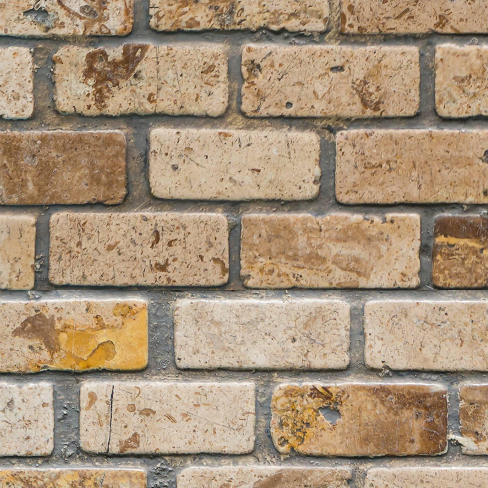 Papel de Parede Tijolo Rustico 20 | Adesivo Vinilico  imagem 2