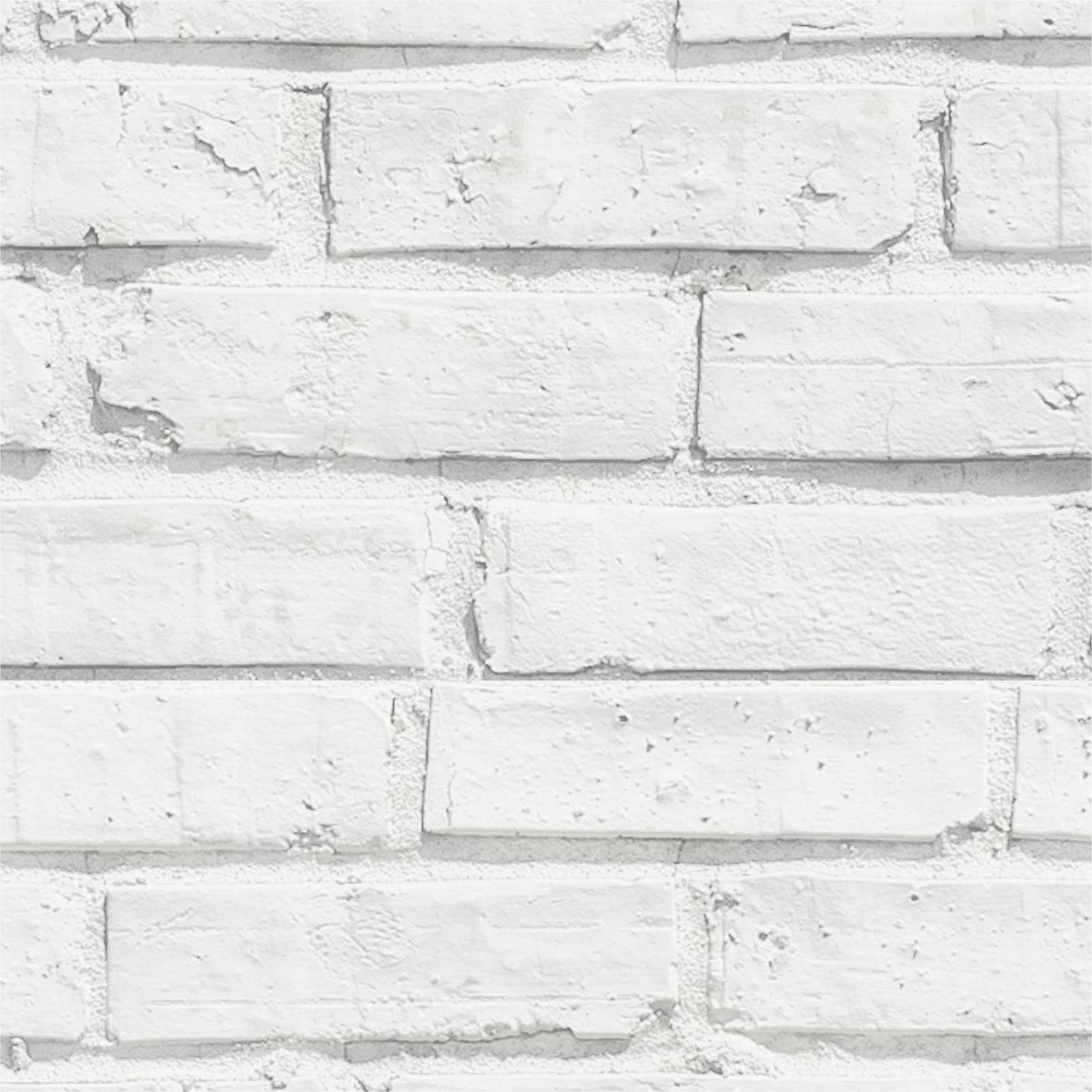 Papel de Parede Tijolinho Branco | Adesivo Vinilico imagem 2