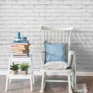 imagem do Papel de Parede Tijolinho Branco | Adesivo Vinilico