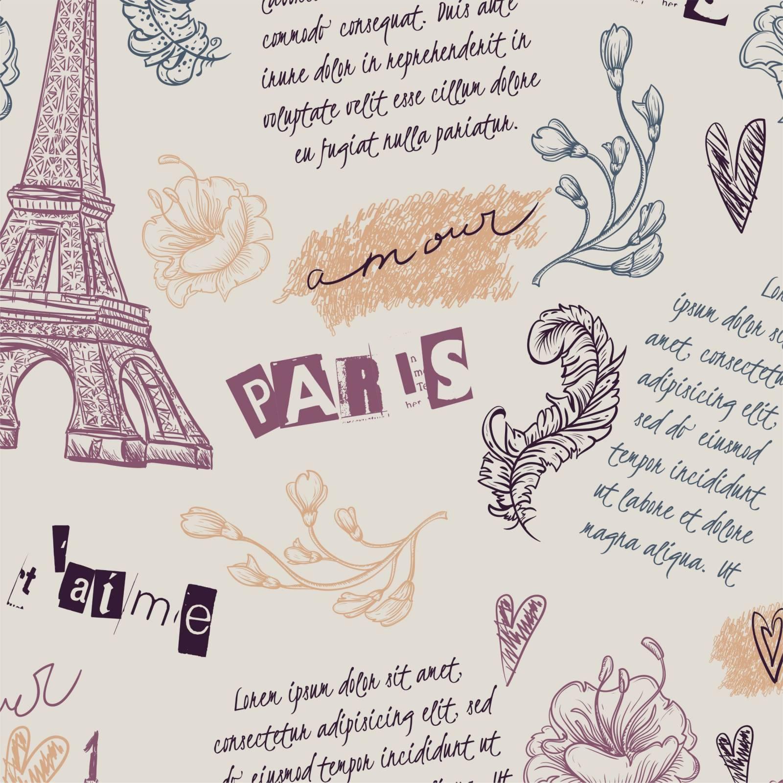 Papel de Parede Adesivo Teens Paris /Rolo  imagem 1