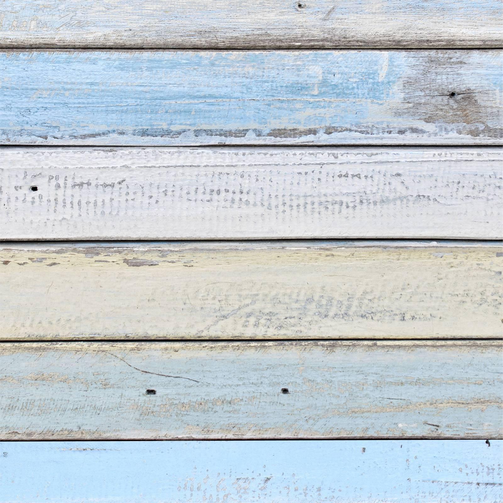 Papel de Parede Adesivo Madeira Azul /Rolo imagem 1