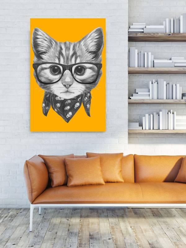 Quadro Gato de Lenço imagem 2