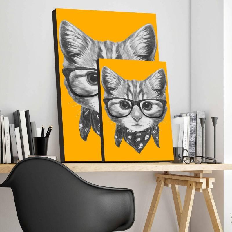 Quadro Gato de Lenço imagem 3