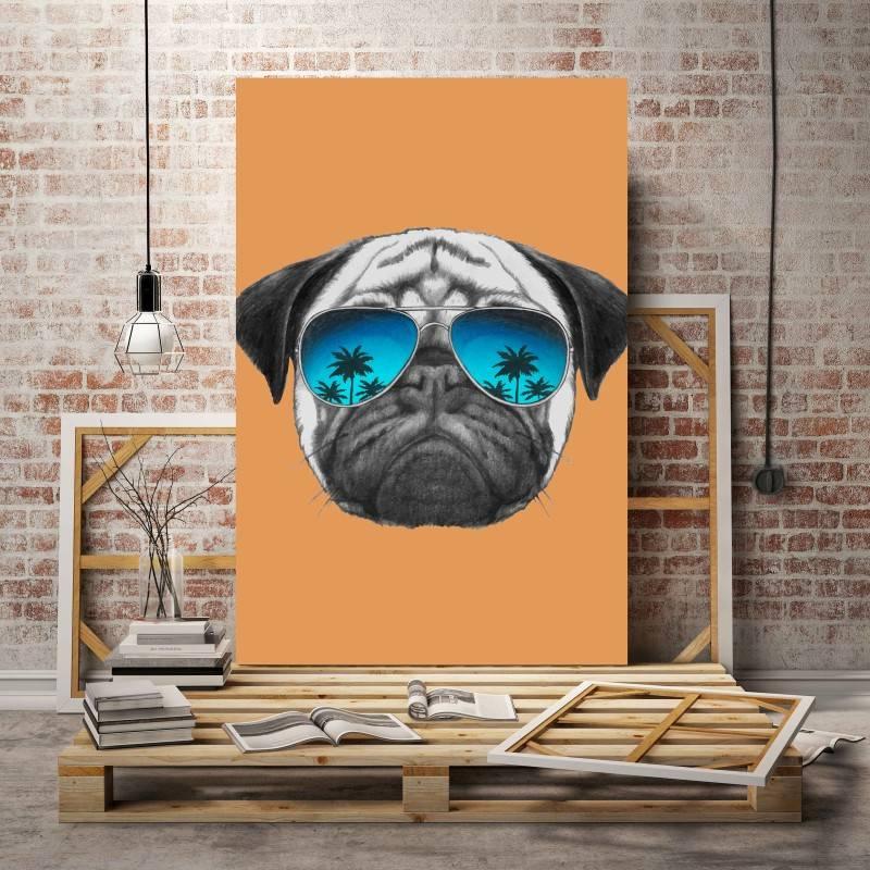 Quadro Cão de Òculos imagem 2