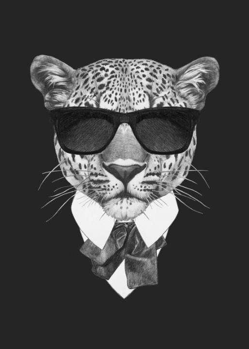 Quadro Tigre de Terno imagem 1