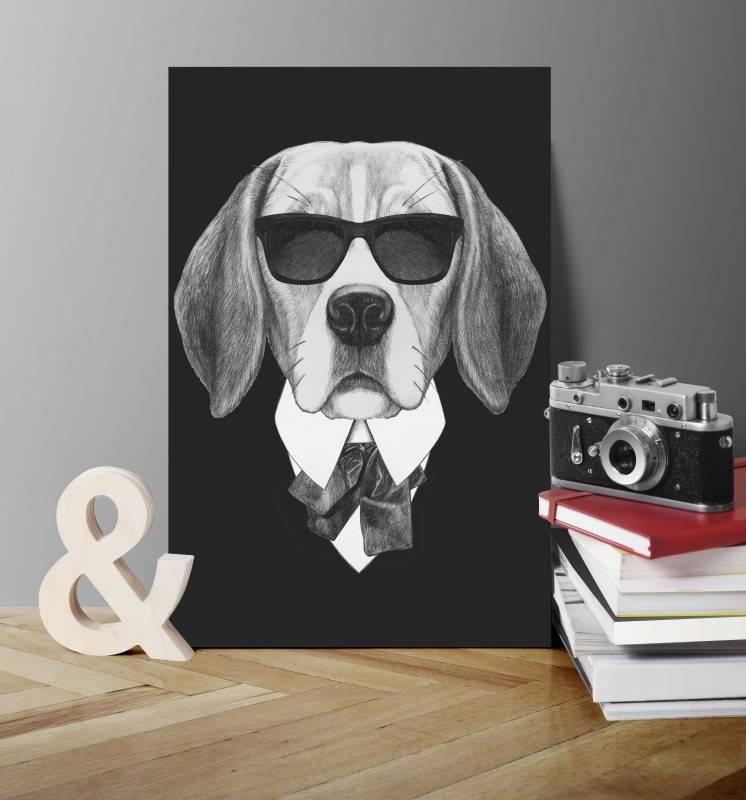 Quadro Cachorro de Terno imagem 2