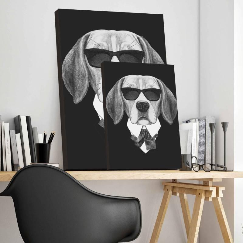 Quadro Cachorro de Terno imagem 3