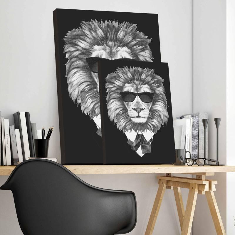 Quadro Leão de Terno imagem 3