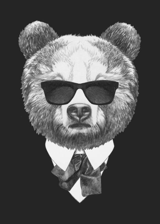 Quadro Urso de Terno - Redecorei