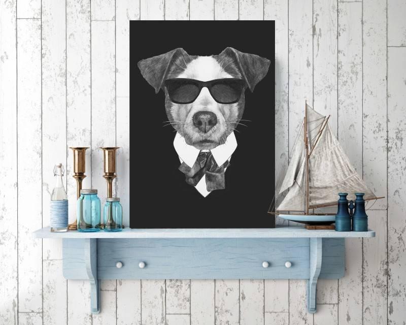 Quadro Cachorro Executivo imagem 2