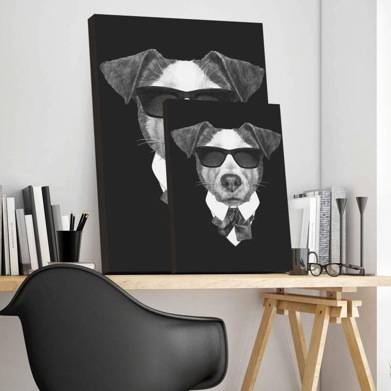 Quadro Cachorro Executivo imagem 3