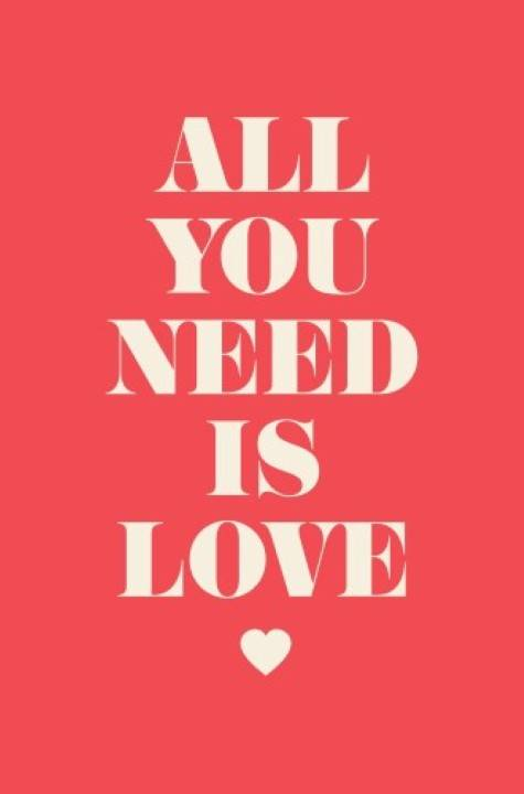 Quadro all you need is love imagem 1