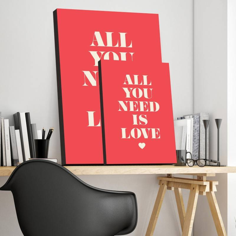 Quadro all you need is love imagem 2