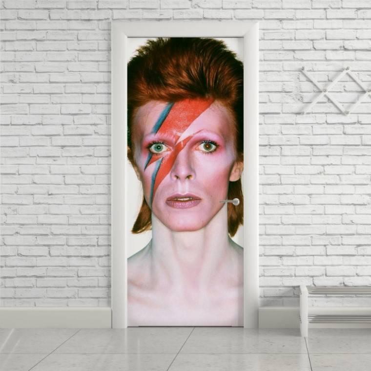 Adesivo Para Porta David Bowie imagem 1