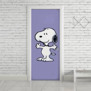 Adesivo de Porta Snoopy Dog